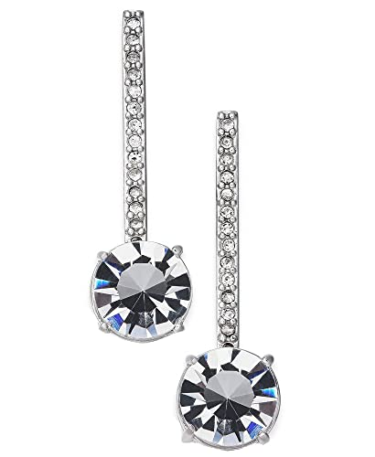 2bd51300d0e0 Image Unavailable. Image not available for. Color: kate spade new york  Silver-Tone Crystal Drop Earrings