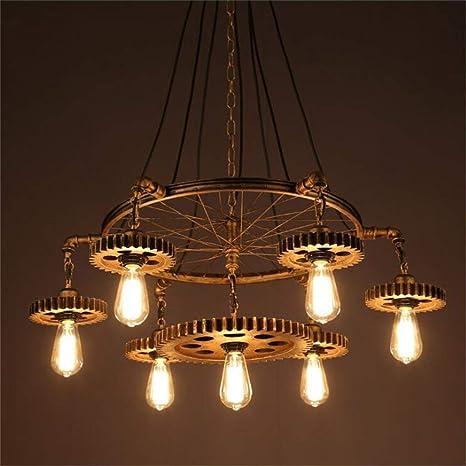 Lámparas de estilo rústico americano Portalámparas E27 ...