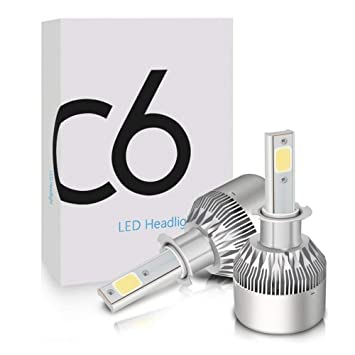 Bombillas Led Kit De Conversión All-In-One con Lámpara COB 2Pcs 7600Lm 72W