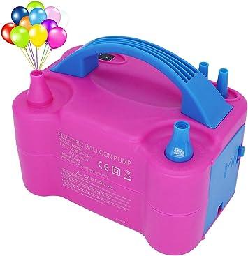 KanCai Inflador Eléctrico de Globos, Bomba electrica para Inflar Globos. Ideal para Fiestas y Eventos. Alta Potencia 600W Color Fucsia