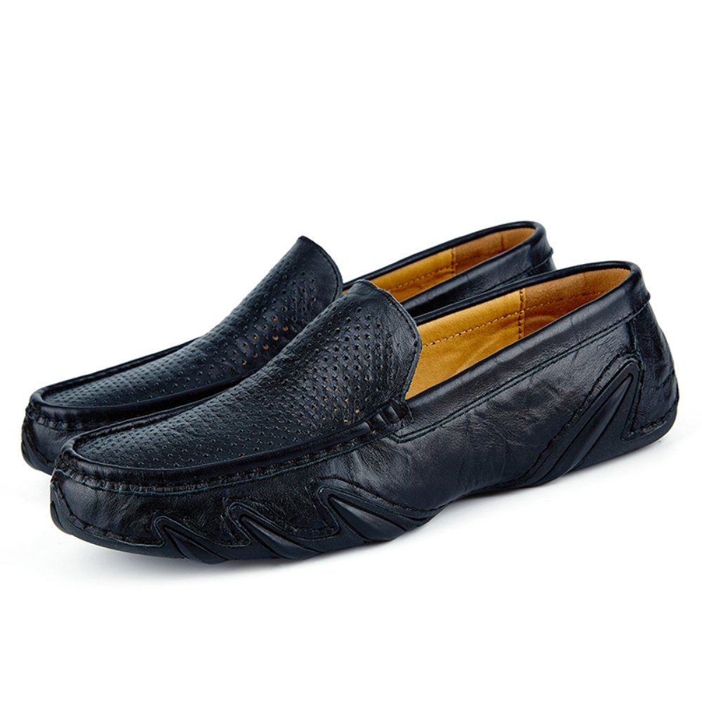 ab58dfce0d5 SocNoDn Mens Summer Loafers Breathable Holes Casual Shoe Slip ONS Hollow  Out Moccasin Black  Amazon.co.uk  Shoes   Bags