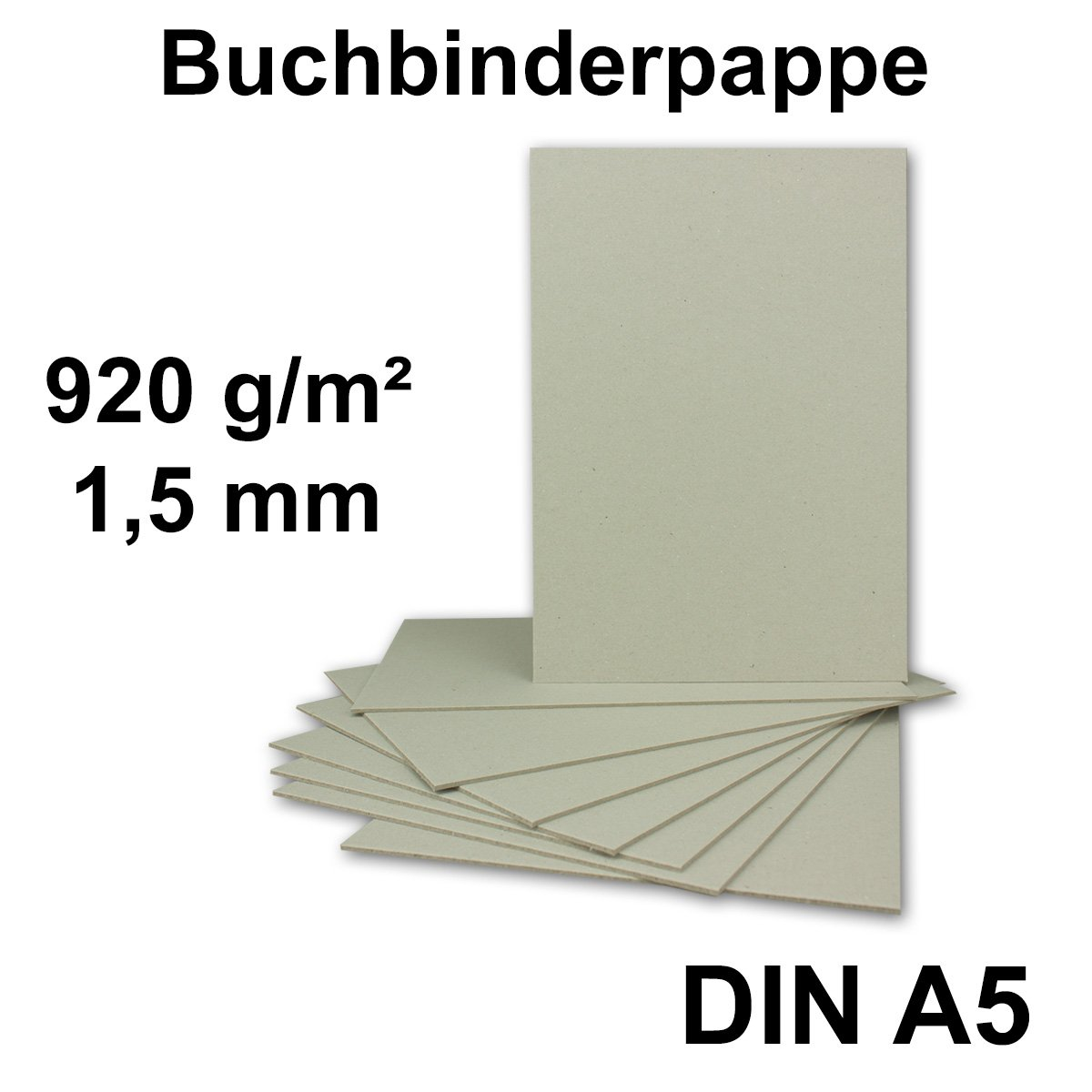 Grammatur: 945 g//m/² Format: 297 x 420 mm St/ärke 1,5 mm 30 St/ück 30 St/ück Buchbinderpappe DIN A3 Farbe: Grau-Braun