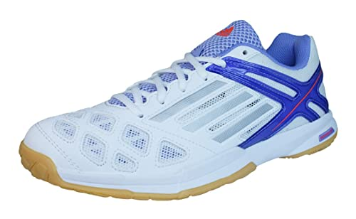 new arrival 9b998 bf590 adidas Feather Team Womens Badminton TrainersShoes-White-10.5