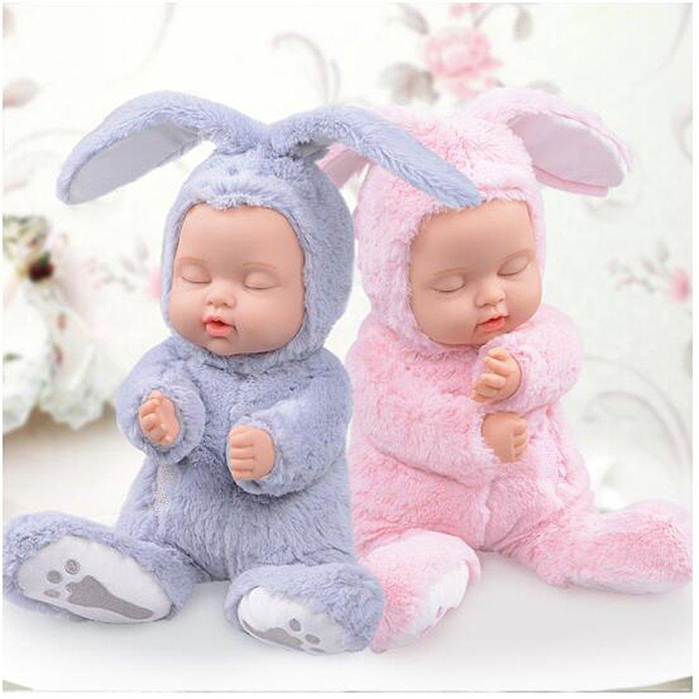 BIEBER Baby Child Gift Lifelike Realistic Reborn Sleeping Baby Doll Premium Soft Plush Toy (Pink) by BIEBER (Image #6)