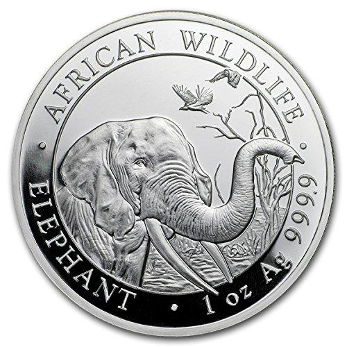 2018 DE Somalia 1 oz Silver Elephant BU 1 OZ Brilliant Uncirculated