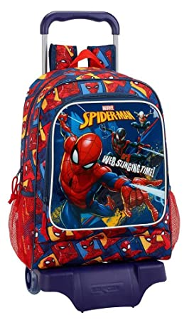 "Safta Mochila Spiderman ""Slinging Time"" Oficial Escolar Con Carro Safta 330x150x430mm"