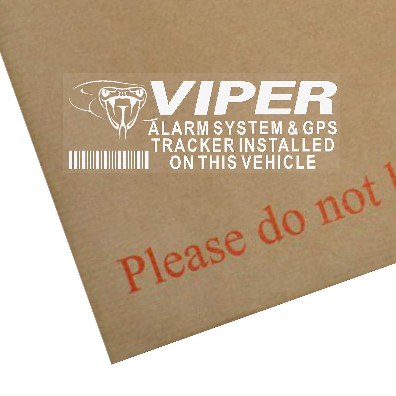 Lote de 5 pegatinas de alarma Viper y GPS rastreador, 87 x 30 mm, seguridad para ventana: Amazon.es: Electrónica