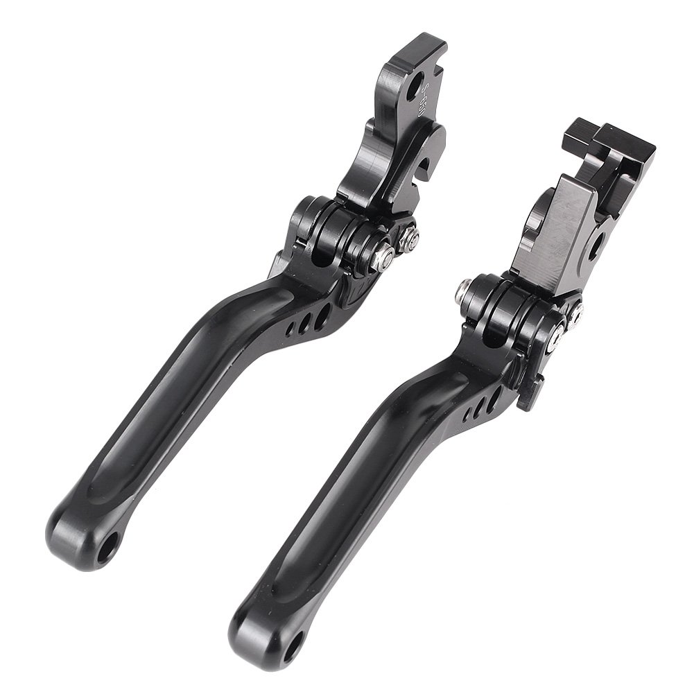Newsmarts Aluminum Brake and Clutch Levers Short Brake Clutch Levers for Suzuki SV650 SV650N 1999-2009