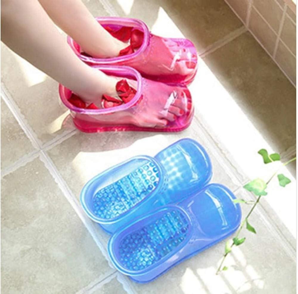 Body /& Sole Bath Tub and  Shower Mat Firm Bristles Reflexology Bumps Lt Blue