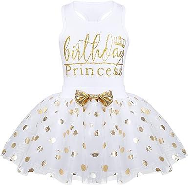 ranrann Vestido Tutú de Princesa para Bebé Niña Traje de Bautizo ...