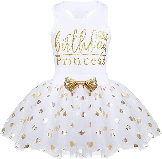 TiaoBug Vestito da Bimba Principessa Ragazza Bambine Neonata Abiti da Battesimo Senza Maniche Tutu Gonna a Fiori in Pizzo Festa 2 Pezzi Abbigliamento Elegante 0-24 Mesi