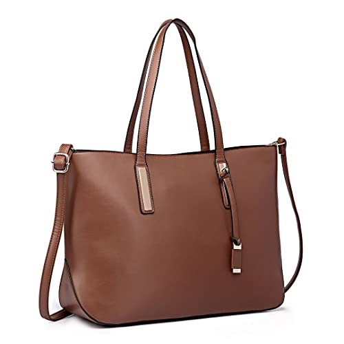 237f651ab853 Miss Lulu Fashion Lady Shoulder Bag Leather Handbag for A4 Women Tote  Shopping Bags