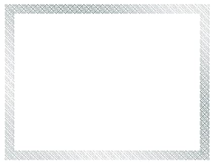 great papers metallic gold border certificate 8 5x 11 100 count