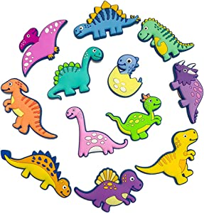 VLOOK Magnets for Kids 3D Dinosaur Fridge Magnets for Toddlers Education Animal Baby Magnets Safety Soft Rubber Preschool Learning Magnet Toys
