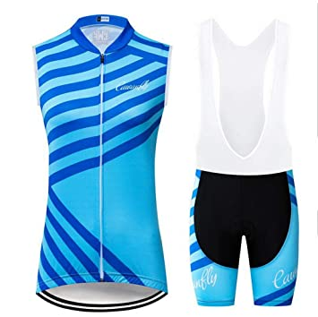 AQWWHY Jerseys de Ciclismo para Mujer Camisas Azules ...
