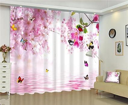 Tende A Fiori Per Camera Da Letto : Tende d butterfly fiori rosa stampa digitale blackout tessuto