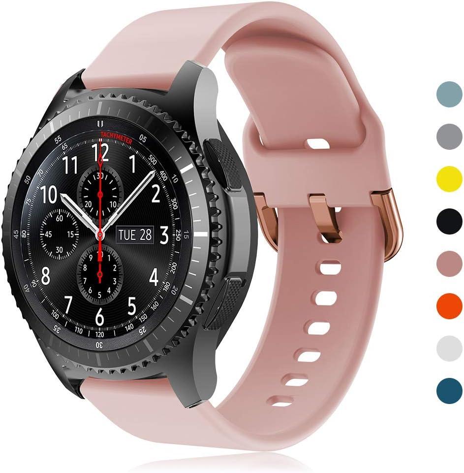 YPSNH Compatible para Samsung Gear S3 Correa 22mm Reemplazo de Silicona Correa Deportiva para Samsung Gear S3 Frontier / S3 Classic/Galaxy Watch 46mm / Huawei Watch GT 46mm / Ticwatch Pro: Amazon.es:
