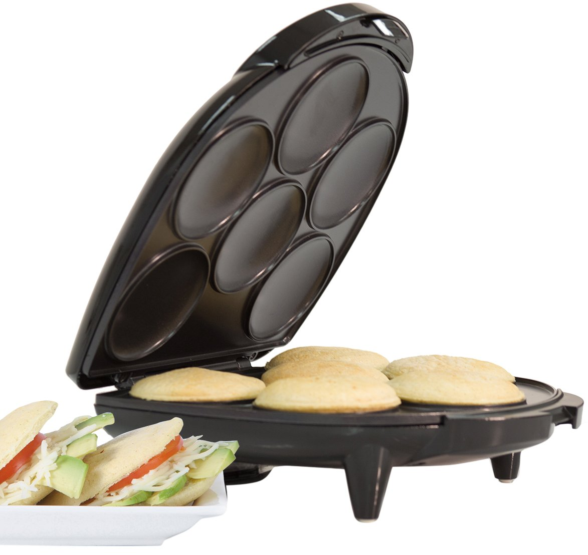 Holstein Housewares HU-09005B Arepa Maker - Black