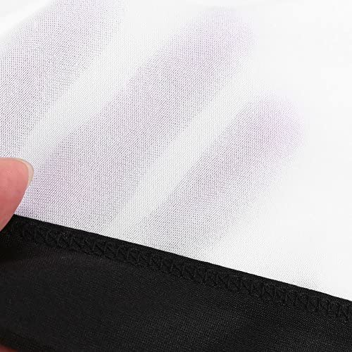 Auntwhale Pliable 16 bord noir http:////pic.aukeyed.com//hongch//201710//166 265 cm Fond blanc 9 HD Display 120 pouces /Écran de projection Polyester Projection Rideau Home Cin/éma Courts ext/érieurs 150