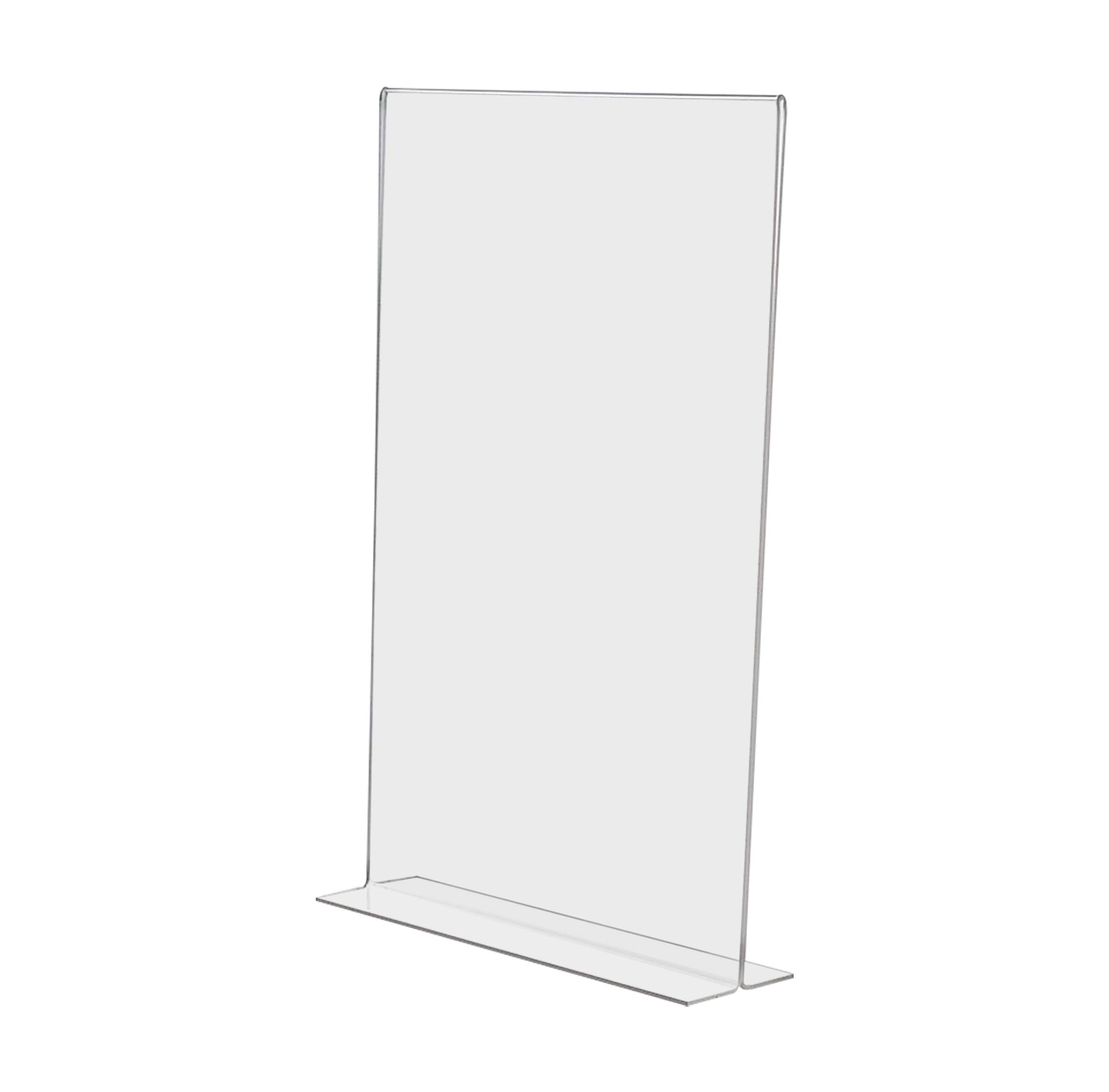 Marketing Holders Literature Flyer Poster Frame Letter Notice Menu Pricing Deli Table Tent Countertop Expo Event Sign Holder Display Stand Double Sided Bottom Loading 11''w x 17''h Pack of 2