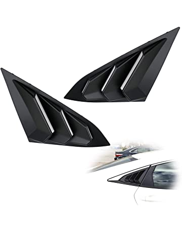 iJDMTOY Left/Right Black Finish Racing Style Rear Side Window Scoop Air Vent/Louver