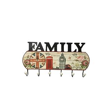 FLy Percha de Entrada Decorativa Americana Colgante de Pared ...