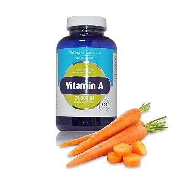 Well-Cap Sugar Free Vitamin A | 20,000 IU | 500 softgels | Easy to