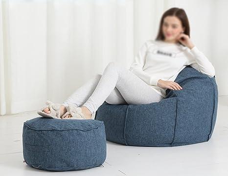 Poltrone sacco 2 pezzi fagiolo borsa poggiapiedi lettino divano tipo