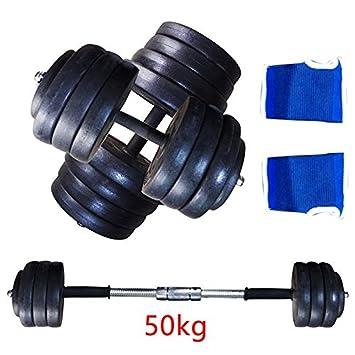 AllRight Barra de pesas (se incluyen 40 kg 50 kg pesas gimnasio ...