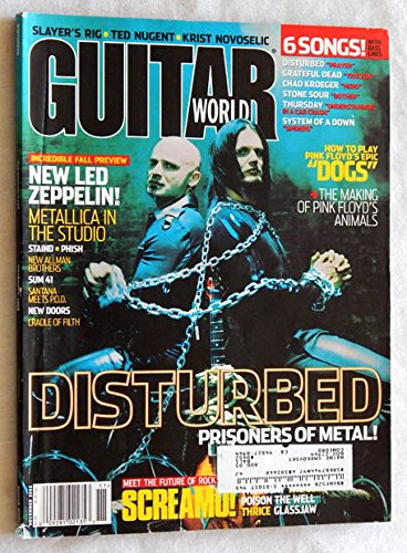 Guitar World Magazine November 2002 Issue - Graded VERY GOOD 9.4 BY THE SELLER -Led Zeppelin - Metallica - Disturbed - POSTER: Disturbed / Thursday