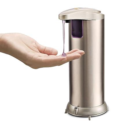 Dispensador de jabón automático, huellas dactilares resistente al cepillado acero inoxidable Sensor de movimiento por