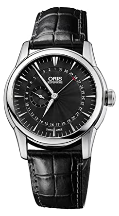 Oris Artelier Automatic Small Second Pointer Date Steel Mens Strap Watch 744-7665-4054-LS: Amazon.es: Relojes