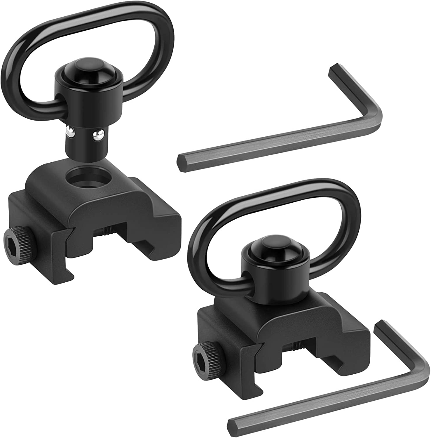 Tactical QD Sling Swivel Attachment Mount Adapter Base with 20mm Picatinny Rail