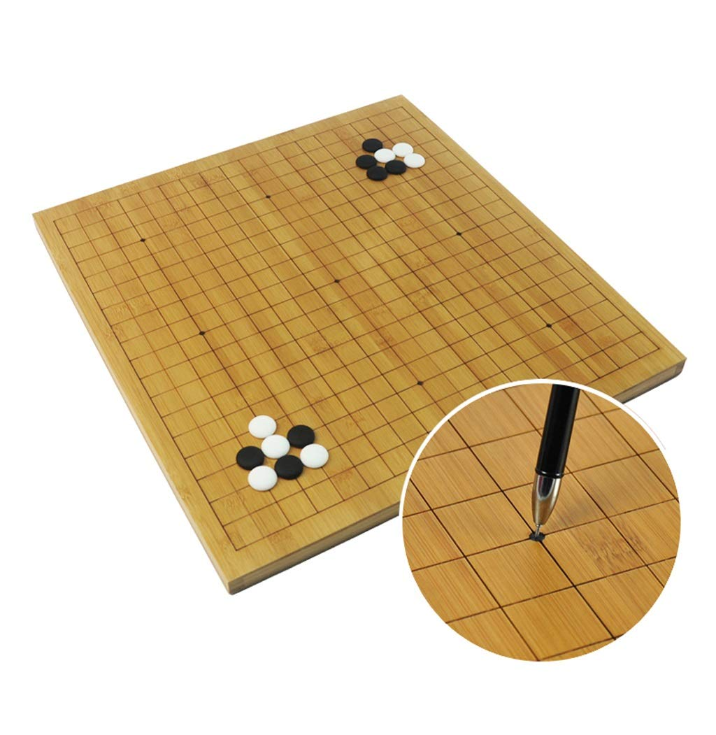 LIAN Go Games Set, Bambus Doppelseitiges Doppelseitiges Doppelseitiges Schachbrett Go Schachset für Erwachsene Anfängerkinder (Farbe : B) 540f10