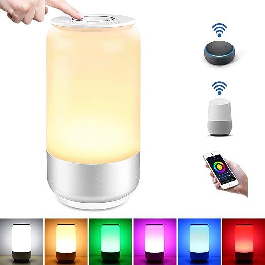 LE Lámpara de Mesa WiFi Inteligente, Lámpara de Noche WiFi, RGB ...