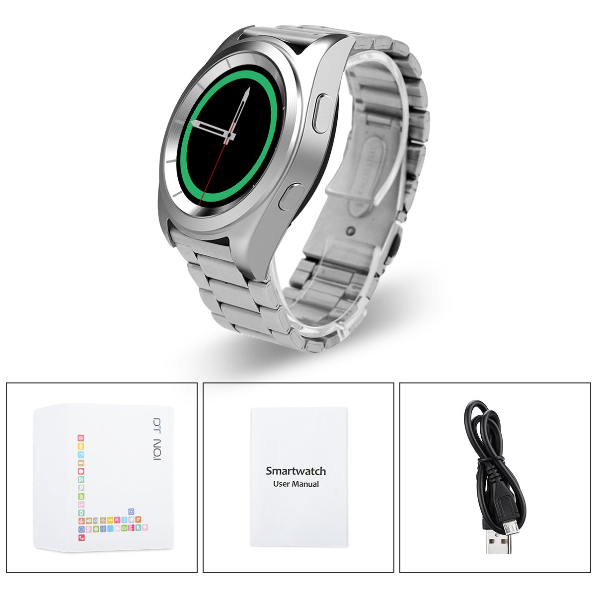 NO.1 G6 - Smartwatch con Bluetooth 4.0, PSG, con monitor de ...
