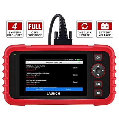 "LAUNCH Code Reader - CRP123X OBD2 Scanner for Engine Transmission ABS SRS Code Reader Car Diagnostic Tool, Android 7.0-Based Wi-Fi One-Click Free Updates, 5.0"" Touchscreen, Upgraded Version of CRP123: Automotive"