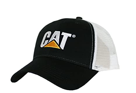 Image Unavailable. Image not available for. Color  Caterpillar CAT Black    White Twill Mesh Snapback Cap dc6ab87fccd4