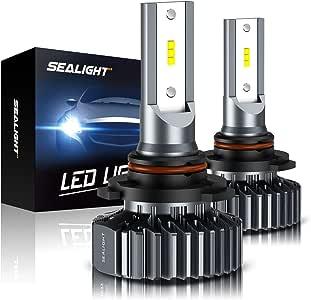 SEALIGHT Scoparc S1 9005/HB3 LED Headlight Bulbs,High Beam,9145/H10 Fog Light Bulbs,6000K Bright White,Halogen Replacement,Quick Installation