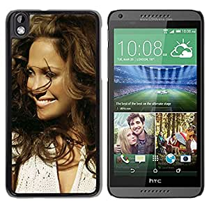 Beautiful Designed Cover Case With Jennifer Lopez Smile Hair Clothes Face For HTC Desire 816 Phone Case