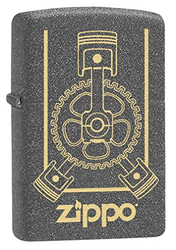 (Zippo Lighter: Engraved Engine - Iron Stone 79149)