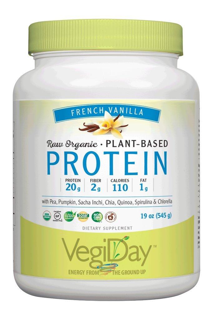Natural Factors – Raw Organic Vegan Protein, Gluten Free, Dairy Free Non-GMO, Creamy Vanilla, 30 Servings 34 oz