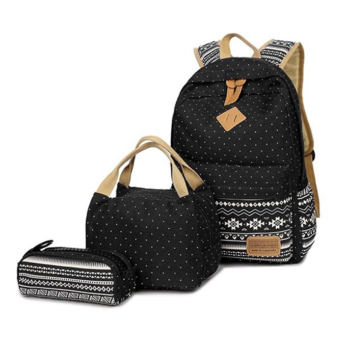 Amazon.com: HITOP set de mochila de lona informal con ...