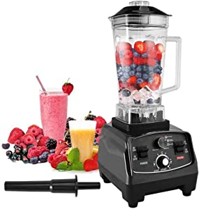 1000W High Speed Professional-Grade Explorian Blender Countertop Blenders For Shakes And Smoothies Black