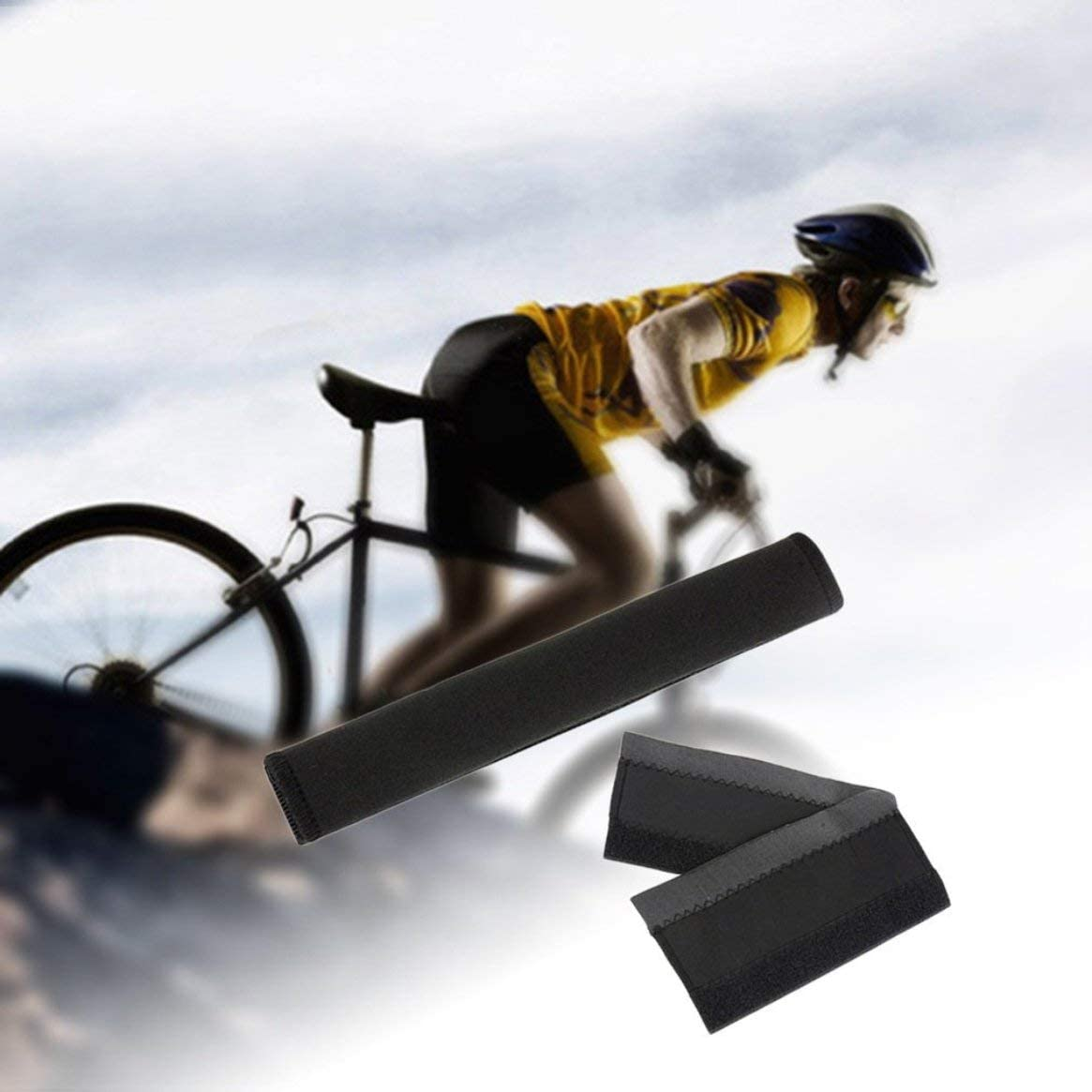 2pcs Neoprene Bike Bicycle Frame Protector Chain Stay Guard Cover Sleeve Pad Freeday-uk