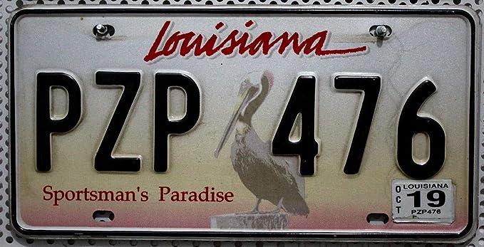 Louisiana Nummernschild Usa Auto Kennzeichen Mit Pelikan Motiv Us License Plate Metall Schild Auto