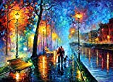 MELODY OF THE NIGHT by Leonid Afremov. MELODY OF THE NIGHT is a Limited Edition Mixed Media on canvas. It is from the edition of 200. MELODY OF THE NIGHT is Leonids most popular images of all time. It will surely become the centerpiece of any room yo...