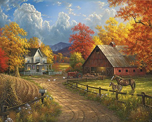 Puzzle Piece 1000 House (White Mountain Puzzles Country Blessing - 1000 Piece Jigsaw Puzzle)