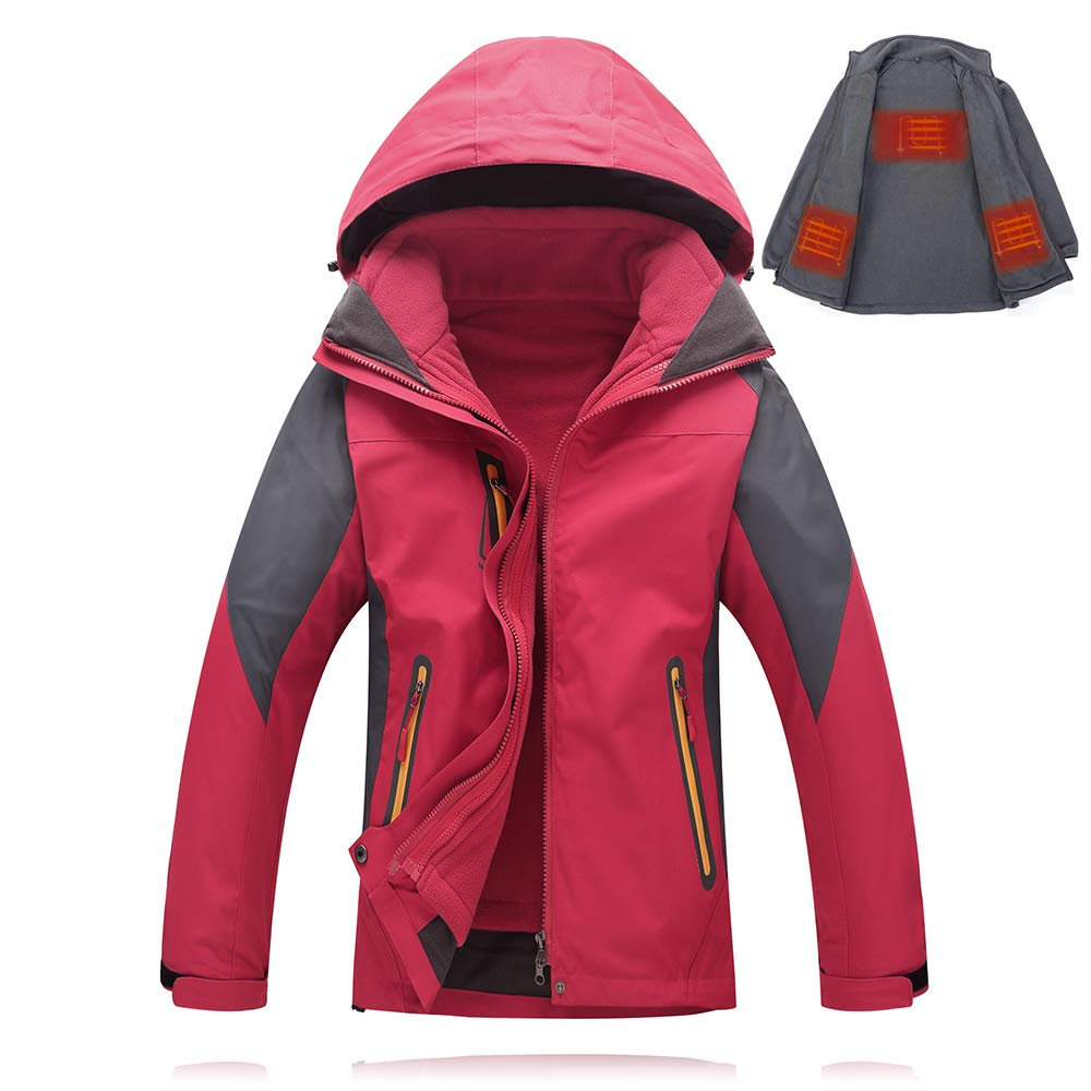 Xlight.ca Women's 5V USB Heated Jacket with Detachable Heating Inner Jacket