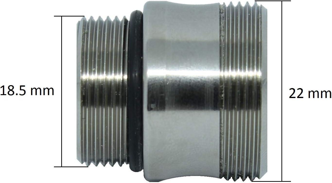 Adaptador de aireador de grifo M18.5 a M22. Roscas M18, 5x1 a ...